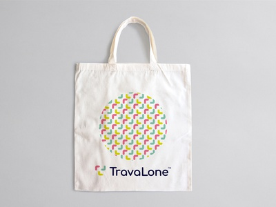 TravaLone travelling alone travel stationary design brand icon mark branding logo