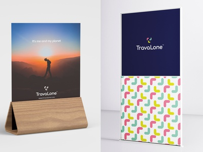 TravaLone travelling lone alone travel stationary design brand icon mark branding logo