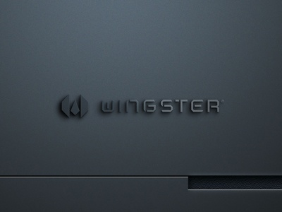 WINGSTER technology app gaming wing design brand icon mark branding logo