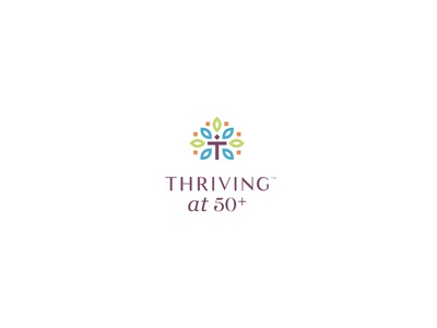 Thriving at 50 50 business thrivinng thrive design brand icon mark branding logo