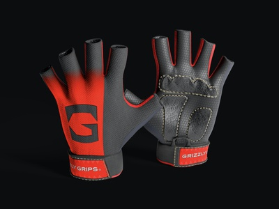 Grizzly Grips (Gloves) g graphic design grips grizzly bear grizzly gloves packaging design brand icon mark branding logo