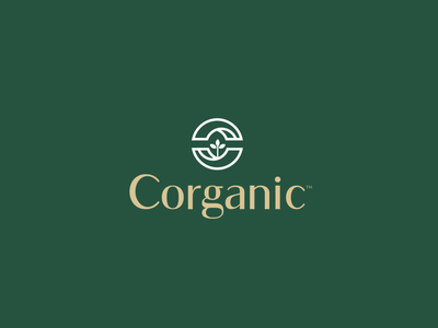 Corganic natural c core organic food stationary design brand icon mark branding logo