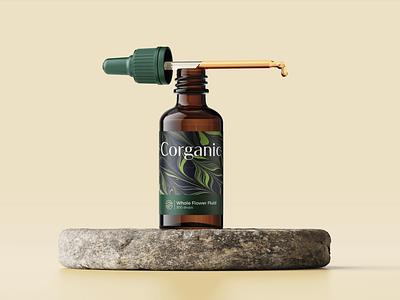 Corganic lable bottle core organic packaging illustration stationary design brand icon mark branding logo