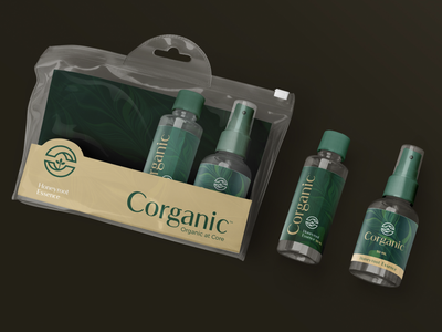 Corganic organic food c natural core organic packaging stationary design brand icon mark branding logo
