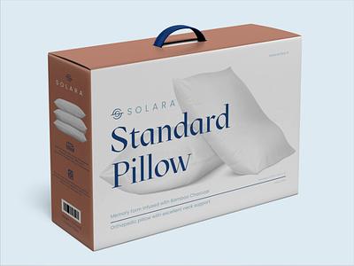 Solara pillow box ui ecom packaging stationary design brand icon mark branding logo