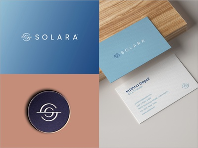 Solara ui ecom packaging stationary design brand icon mark branding logo