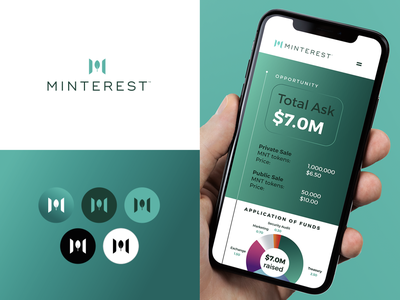 Minterest mint finance cryptocurrency crypto packaging design brand icon mark branding logo
