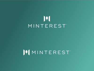 Minterest bitcoin mint finance cryptocurrency crypto design brand icon mark branding logo