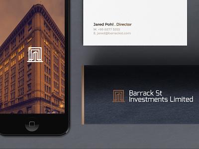 Barrack St - Branding Presentation building investment assets australia sydney street barrack branding logo
