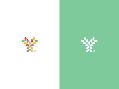 Youveda youth you vedic ayurveda life branding logo