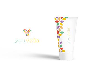 Youveda - Product Design Wip logo branding life ayurveda vedic you youth