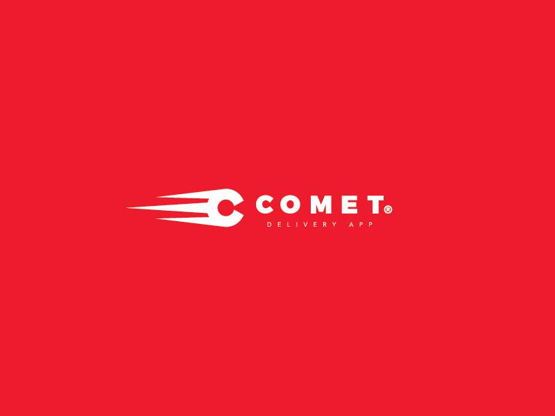Comet - Delivery App delivery app branding icon mark c logo comet cap