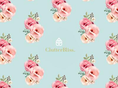 Clutter Bliss bliss branding bud flower logo home