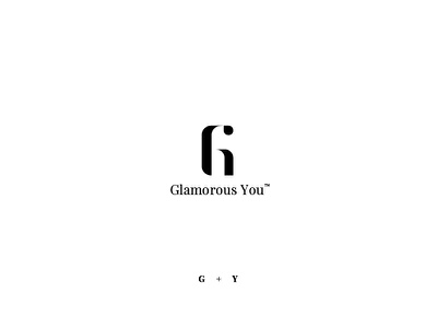 Glamorous You - G + Y glam you beauty logo g y branding