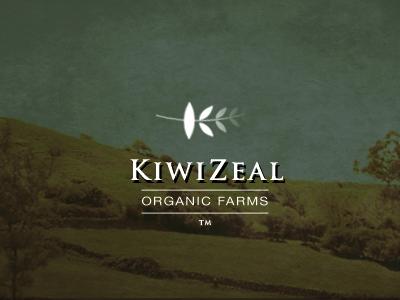 Kiwizeal logo kiwi organic food branding