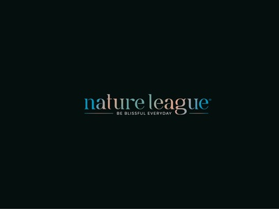Nature League design illustration branding brand soap cosmetics typeface type logo nature
