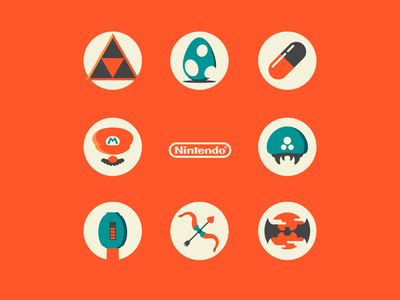Classic Nintendo Game Icons
