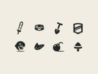 Zelda Links Awakening icon set