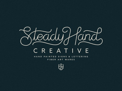 Steady Hand script type lettering logo
