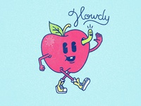 Howdy! howdy drawing lettering apple illustration