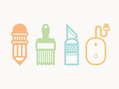 Tools of the trade illustration design icons