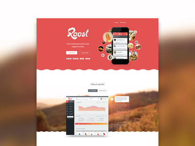 Roost Homepage website landing page one pager mike sattler roost push notifications web