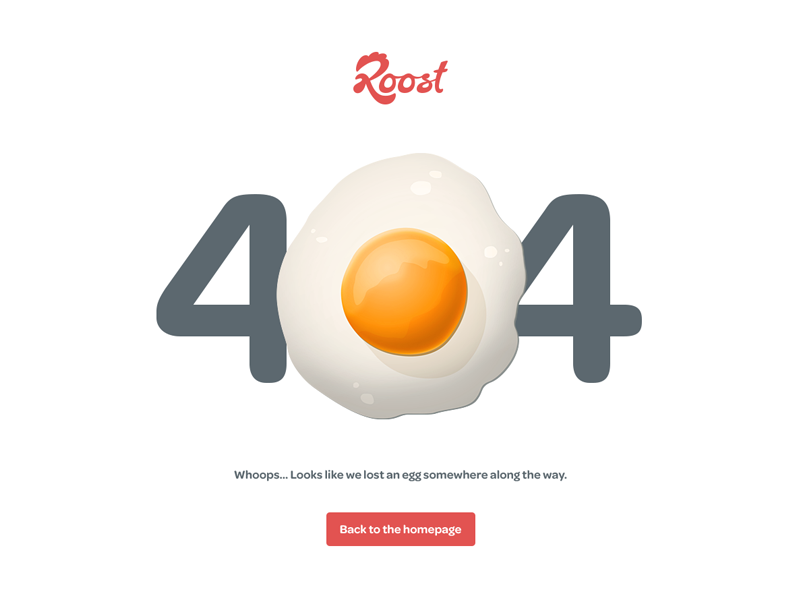 Roost 404 404 website web egg yolk breakfast mike sattler roost