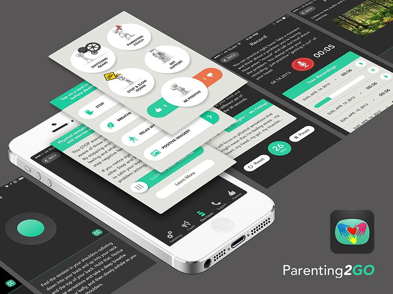 Parenting2GO ux ui app 508 us ios appstore mobile veterans free iphone