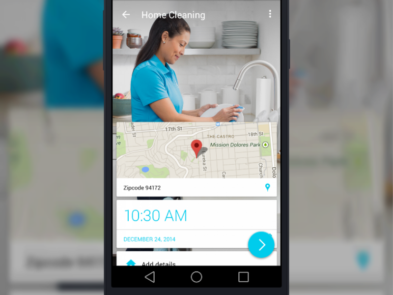 Handy android homecleaning v4