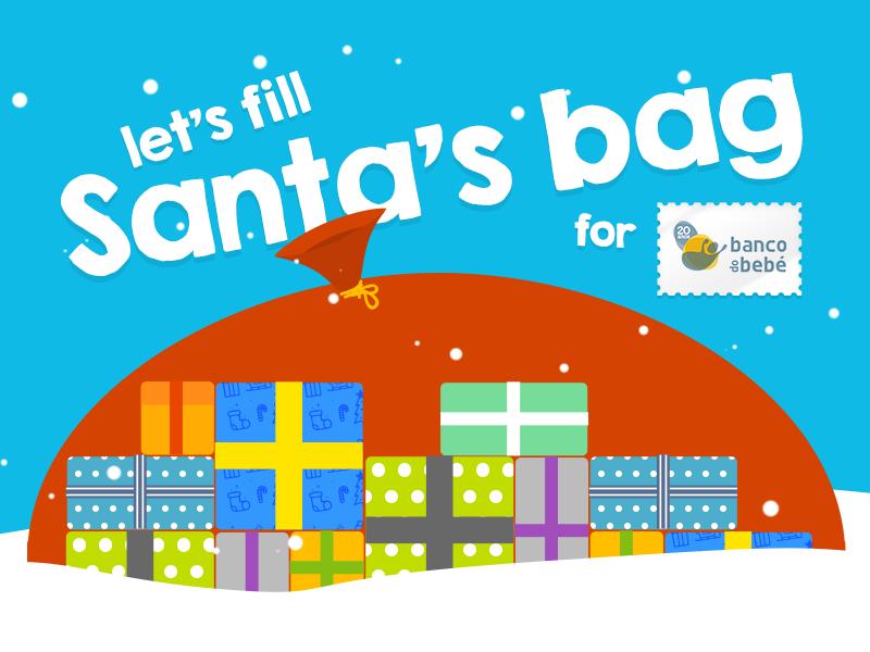 Santa's Bag for Banco do Bebé (NGO) html snow presents gifts baby christmas institution vector ngo