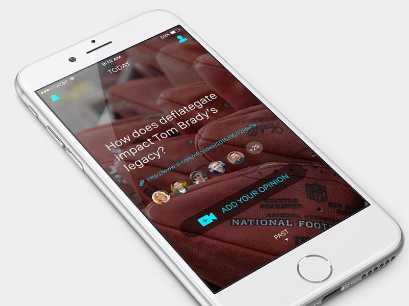iOS App discussion today interests design ui ux app ios