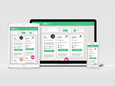 On Demand Job Opportunities responsive webapp iphone app ux ui