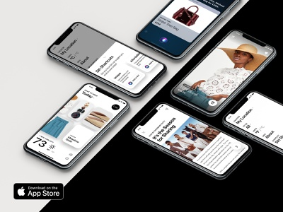 Chic Every Weather iOS App featured new app mobile iphone app ux ui assistant advisor recommendations location product curated siri advice weather fashion cards ios chic