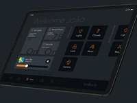 Brilliant iPad App WIP dashboard navigation control devices lights smarthome night dark ui ui design ux design iot ui ux