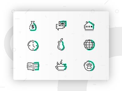 Icon Set sobecki simply clean stroke line vibrant fresh set icons icon