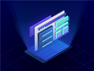 Services Illustration blur shiny illustration icon development web design 10clouds