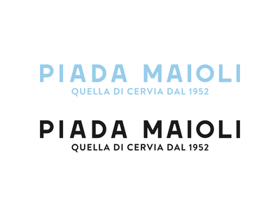 Piada Maioli - Rebranding logo vintage handmade font hand drawn type logotype restaurant typography lettering font design brand identity branding