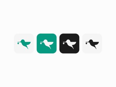 Hummingbird - Logo symbol mark app logo app icon bird logo bird logo design branding