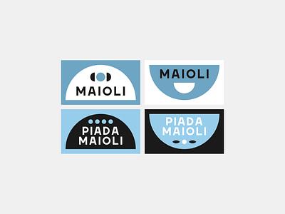 Piada Maioli - Rebranding stickers social symbol restaurant type lettering brand identity font typography design lock up lockup logotype branding