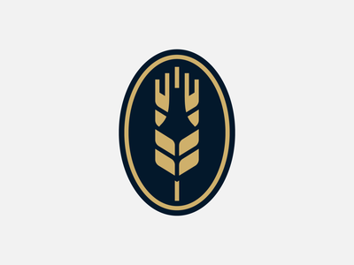 'Brewing Farm' logo - WIP milan brewery logo badge icon wheat bottle beer