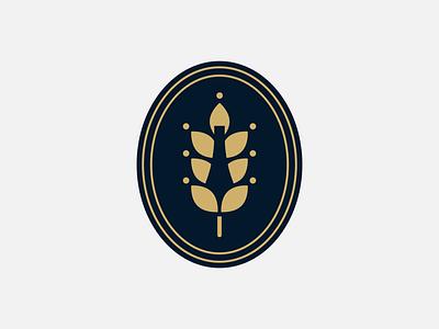 'Brewing Farm' logo - WIP farm bottle beer wheat brewery branding logo badge logo