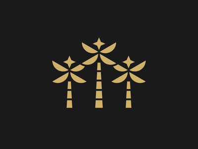Palms - Logo Proposal palm tree beverage palms logo branding