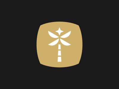 Palms - Logo Proposal branding beverage badge design logo palms palm tree