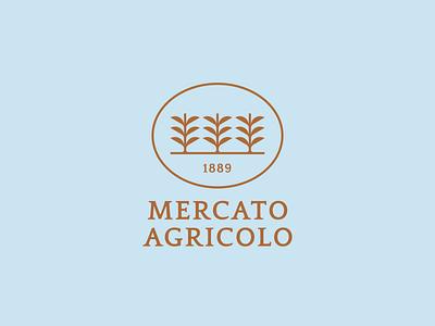 Mercato Agricolo - Logo Proposal market restaurant design logo logotype branding