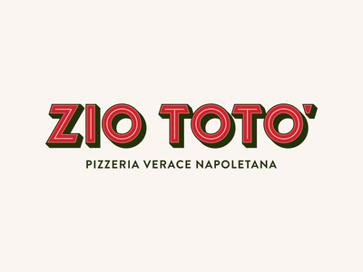 Zio Totò - Logo Concept font logo restaurant pizzeria brand identity lettering logotype type hand drawn handmade font vintage typography branding