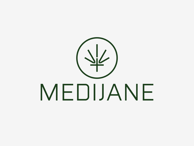 MediJane - WIP logotype mark brand identity brand natural organic cannabis logo cbd thc