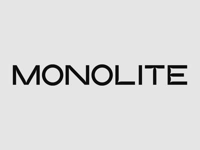 Monolite Font - WIP