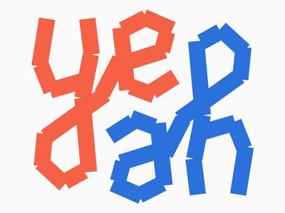 Yeah - Ambigram