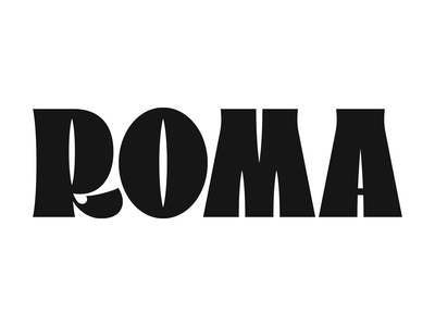 Roma hand drawn lettering type handmade font font typography