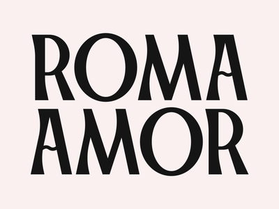 Roma - Type experiment hand drawn handmade font type lettering font typography